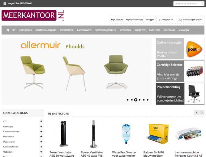 Magento webshop Meerkantoor homepagina