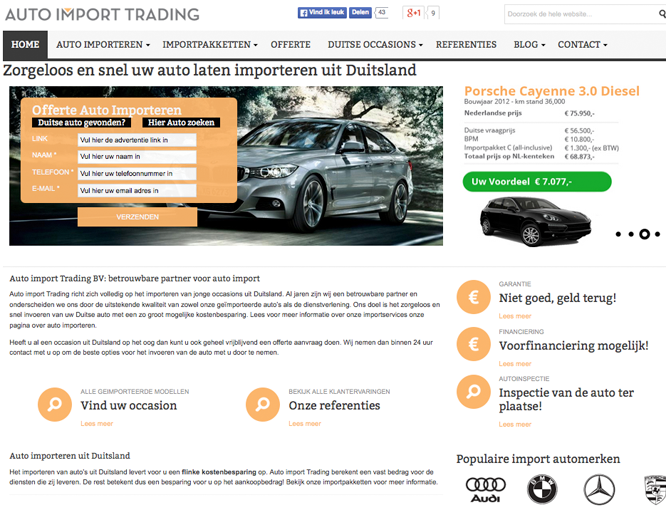 Magento voorbeeld implementatie Auto import