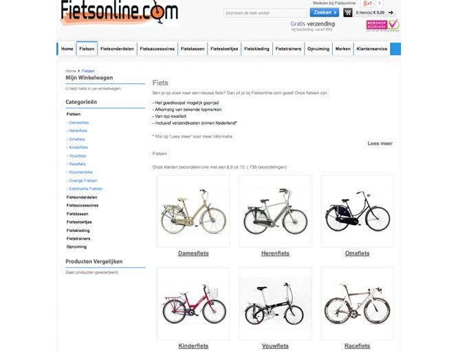 Magento voorbeeld implementatie Fietsonline