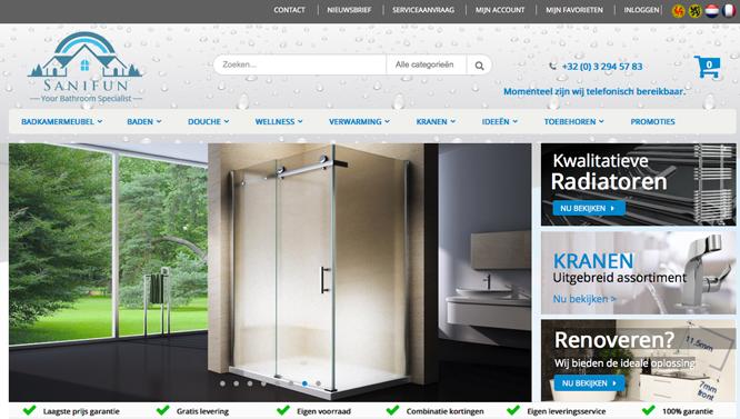 online sanitair homepagina