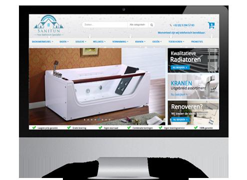 magento webshop online sanitair