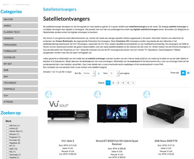 shop4satellite catalogus