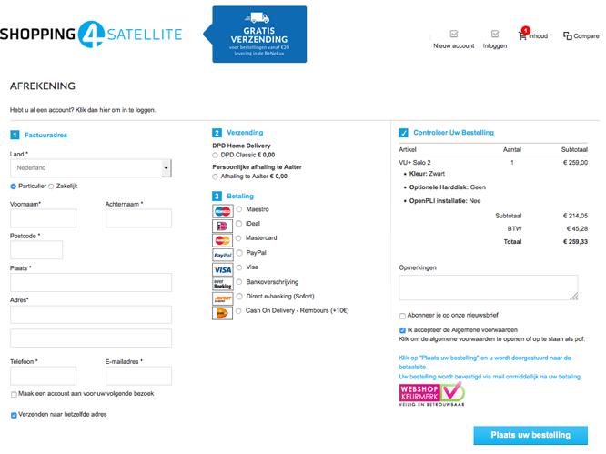 shop4satellite checkout